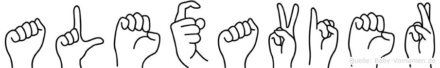 Alexavier in Fingersprache für Gehörlose