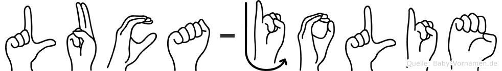 Luca-Jolie im Fingeralphabet der Deutschen Gebärdensprache