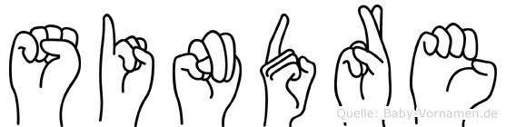 Sindre in Fingersprache für Gehörlose