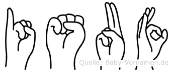 Isuf in Fingersprache für Gehörlose
