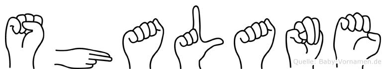 Shalane in Fingersprache für Gehörlose