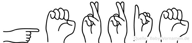 Gerrie in Fingersprache für Gehörlose