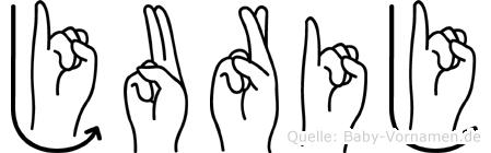 Jurij im Fingeralphabet der Deutschen Gebärdensprache