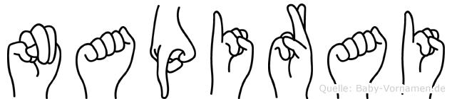 Napirai im Fingeralphabet der Deutschen Gebärdensprache