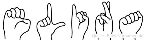 Elira in Fingersprache für Gehörlose