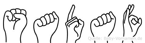 Sadaf im Fingeralphabet der Deutschen Gebärdensprache