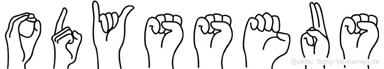 Odysseus im Fingeralphabet der Deutschen Gebärdensprache