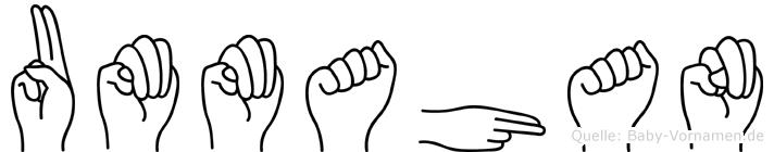 Ummahan im Fingeralphabet der Deutschen Gebärdensprache