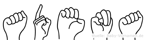 Adena in Fingersprache für Gehörlose