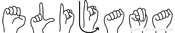 Elijana im Fingeralphabet der Deutschen Gebärdensprache