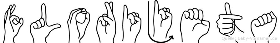 Florijeta im Fingeralphabet der Deutschen Gebärdensprache