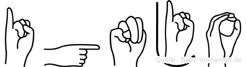 Ignjo in Fingersprache für Gehörlose