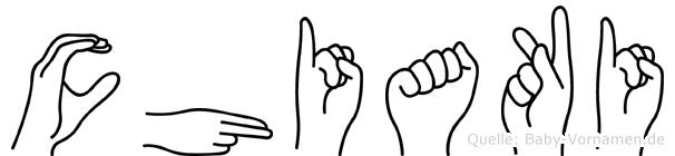 Chiaki im Fingeralphabet der Deutschen Gebärdensprache