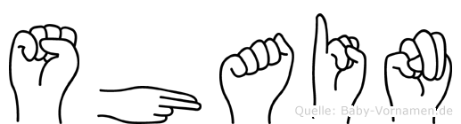 Shain im Fingeralphabet der Deutschen Gebärdensprache