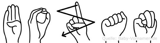Bozan im Fingeralphabet der Deutschen Gebärdensprache