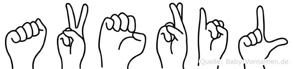 Averil in Fingersprache für Gehörlose