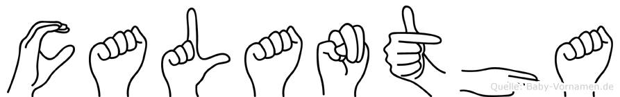 Calantha in Fingersprache für Gehörlose