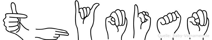 Thymian im Fingeralphabet der Deutschen Gebärdensprache