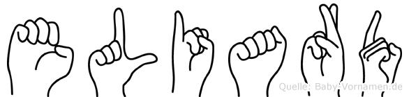 Eliard im Fingeralphabet der Deutschen Gebärdensprache