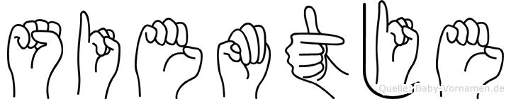 Siemtje im Fingeralphabet der Deutschen Gebärdensprache