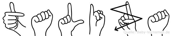 Taliza in Fingersprache für Gehörlose