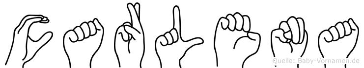 Carlena in Fingersprache für Gehörlose