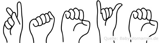 Kaeye im Fingeralphabet der Deutschen Gebärdensprache