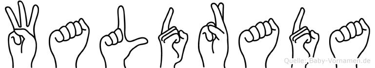 Waldrada im Fingeralphabet der Deutschen Gebärdensprache