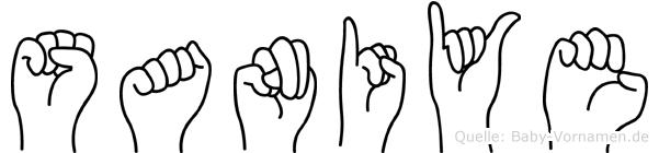 Saniye im Fingeralphabet der Deutschen Gebärdensprache