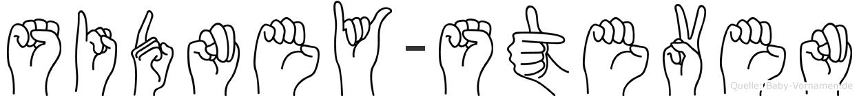 Sidney-Steven im Fingeralphabet der Deutschen Gebärdensprache