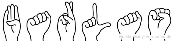 Barlas im Fingeralphabet der Deutschen Gebärdensprache