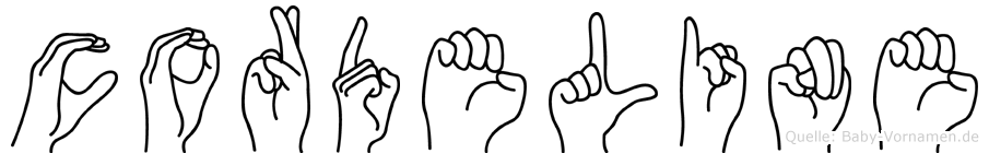 Cordeline in Fingersprache für Gehörlose