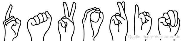 Davorin im Fingeralphabet der Deutschen Gebärdensprache