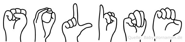 Soline im Fingeralphabet der Deutschen Gebärdensprache
