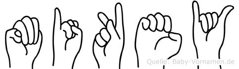 Mikey in Fingersprache für Gehörlose