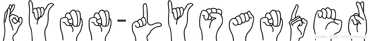Fynn-Lysander im Fingeralphabet der Deutschen Gebärdensprache