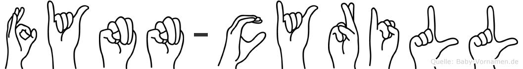 Fynn-Cyrill im Fingeralphabet der Deutschen Gebärdensprache