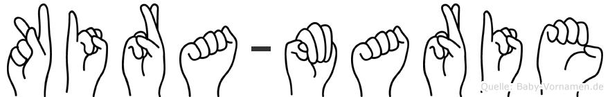 Kira-Marie im Fingeralphabet der Deutschen Gebärdensprache