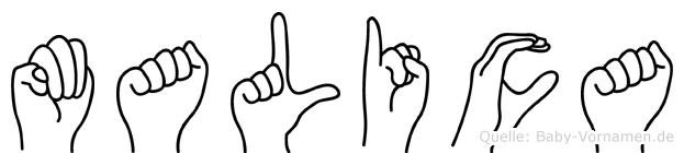 Malica in Fingersprache für Gehörlose