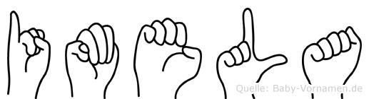 Imela im Fingeralphabet der Deutschen Gebärdensprache