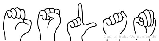 Eslam im Fingeralphabet der Deutschen Gebärdensprache