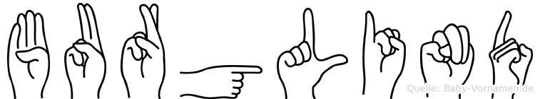 Burglind in Fingersprache für Gehörlose