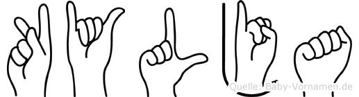 Kylja im Fingeralphabet der Deutschen Gebärdensprache