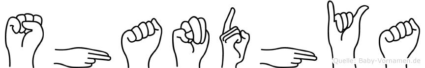 Shandhya in Fingersprache für Gehörlose