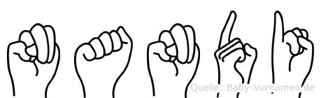 Nandi in Fingersprache für Gehörlose