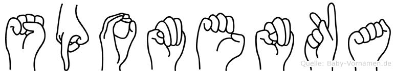 Spomenka in Fingersprache für Gehörlose