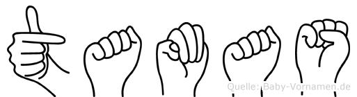 Tamas im Fingeralphabet der Deutschen Gebärdensprache