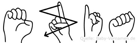 Ezia in Fingersprache für Gehörlose