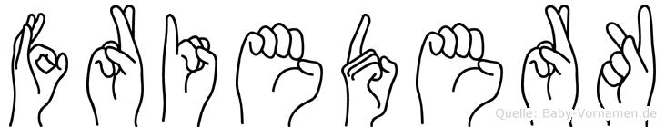 Friederk in Fingersprache für Gehörlose