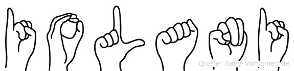 Iolani in Fingersprache für Gehörlose